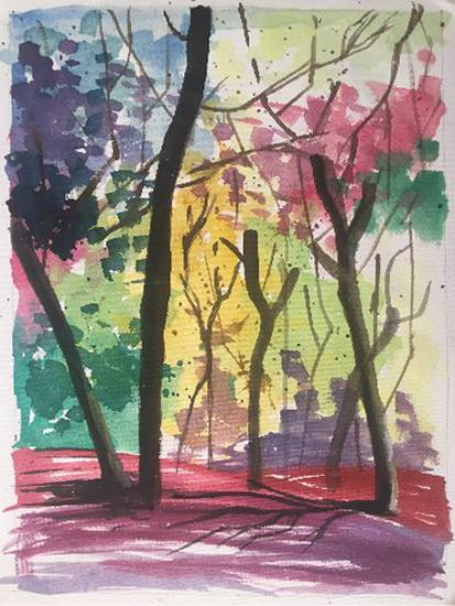 Painting  by Avni Rastogi - Colourful nature