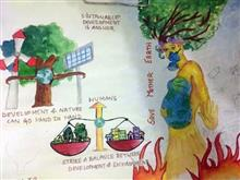 Painting  by Avni Rastogi - Save earth
