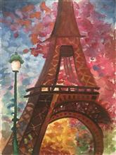 Painting  by Avni Rastogi - Colourful tower