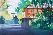 Painting  by Avni Rastogi - My House in town