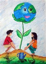 Painting  by Hridisha Chakrabarti - Save trees