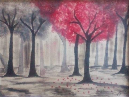 painting by Kanak Agrawal - Trees