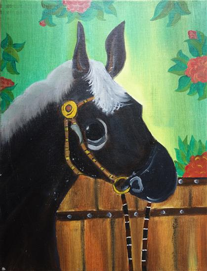 Horse, painting by Kanak Agrawal