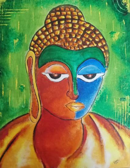 Buddha, painting by Kanak Agrawal