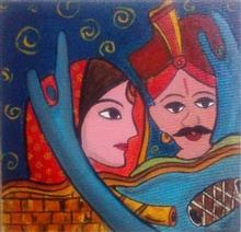 Painting  by Kanak Agrawal - Couple