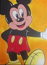 Painting  by Kanak Agrawal - Micky Mouse