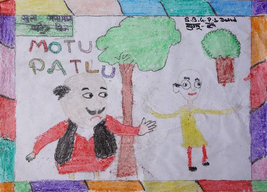 Painting  by Khushbu  - Motu Patlu