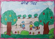 Painting  by Kiranpreet Kaur - Save Trees