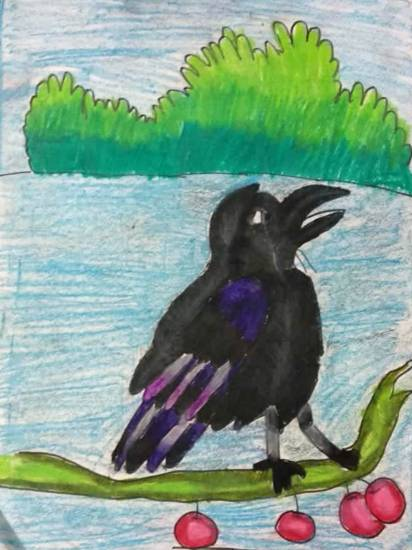 Painting  by Mansvi Bhagwat - Crow