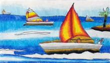 Painting  by Mansvi Bhagwat - Boat