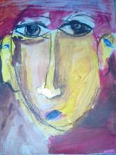 Painting  by Kabir Kedar Deshpande - A face of a woman