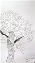 Painting  by Kabir Kedar Deshpande - Tree in doodling