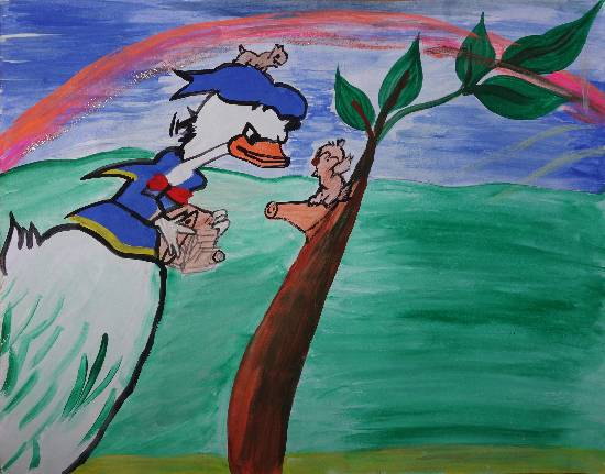 Painting  by Nandni  - Donald Duck