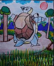 Painting  by P Sunrendar - Tortoise