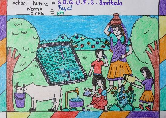 Painting  by Payal  - Village