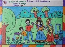 Painting  by Pooja  - Village