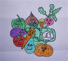 Painting  by S Aswatha - Vegetables