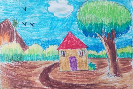 Painting  by Saanvi Rajendra Kulkarni - House