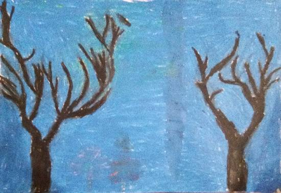 Painting  by Saanvi Rajendra Kulkarni - Trees