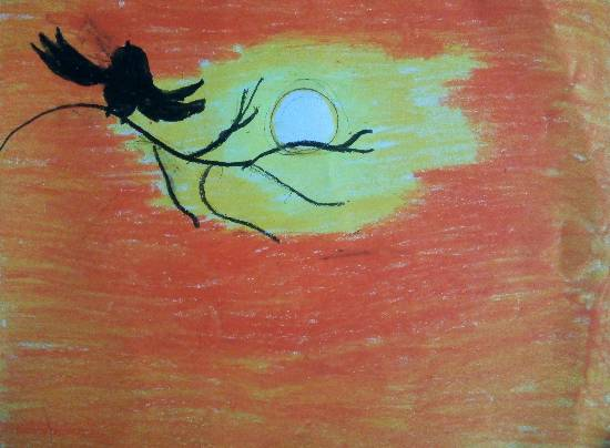 Painting  by Saanvi Rajendra Kulkarni - Sunset
