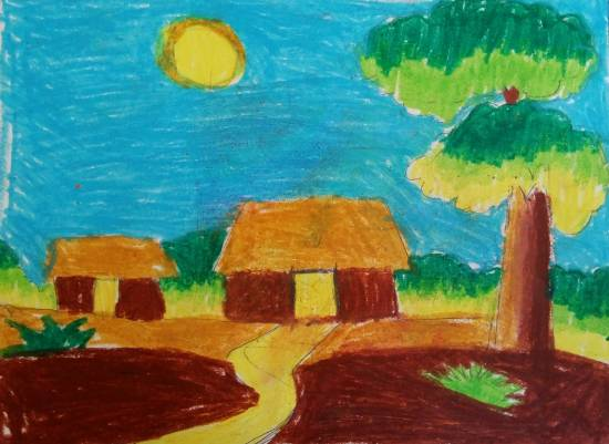 Painting  by Saanvi Rajendra Kulkarni - Houses