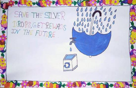 painting by Sandhya Devi - Save Water