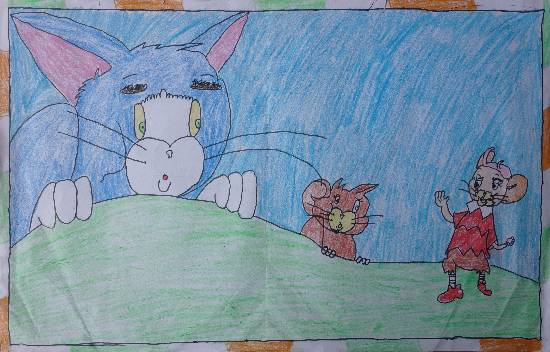 Painting  by Shiv Kumar - Tom and Jerry