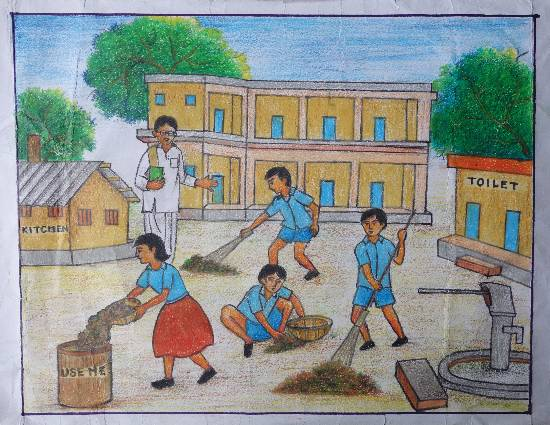 Painting  by Soudip Das - Swachh Bharat