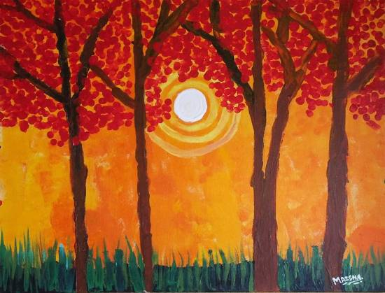 painting by Maisha Nazim Furniturewala - Trees