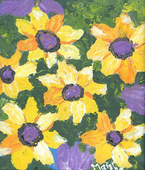painting by Maisha Nazim Furniturewala - Flowers