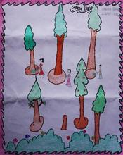 Painting  by Tannu  - Save Trees
