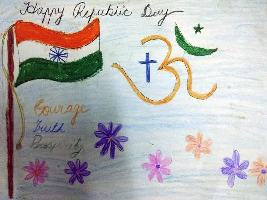 Painting  by Vansheeta Acharya - Republic day