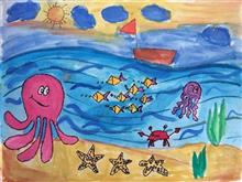 Painting  by Manasvi Vikas Joshi - Sea Life