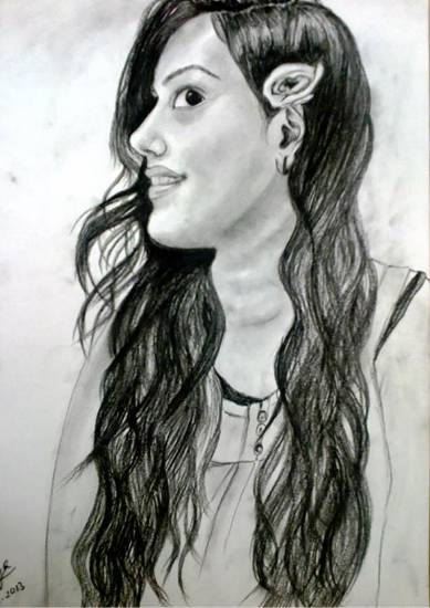 painting by Supriya Choudhary - Portrait