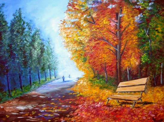 Painting  by Supriya Choudhary - The Bench