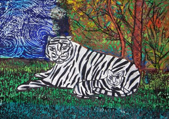 Tiger, painting by Mariya Kapadia