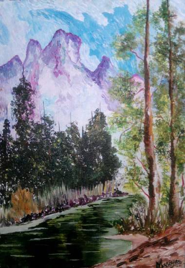 Trees, painting by Mariya Kapadia