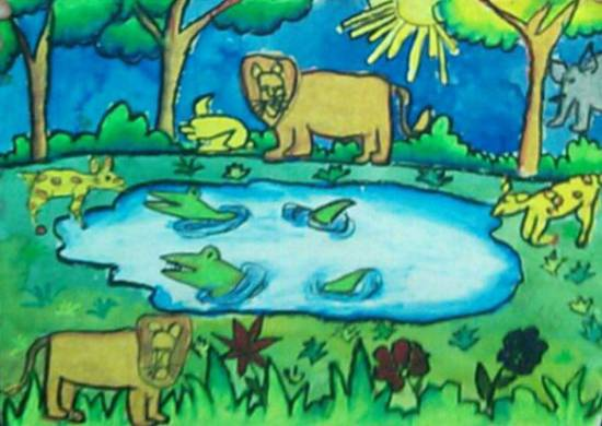 painting by Mariya Kapadia - Jungle