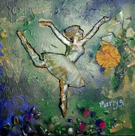 painting by Mariya Kapadia - Dancer