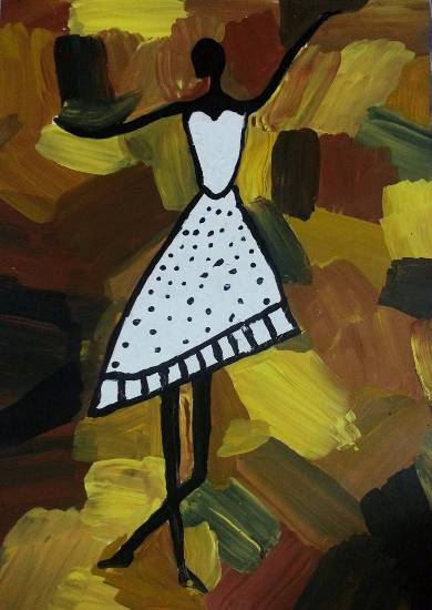 Dancer, painting by Mariya Kapadia