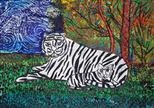 Painting  by Mariya Kapadia - Tiger