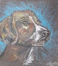 Painting  by Mariya Kapadia - Dog
