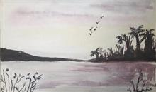 Painting  by Mariya Kapadia - Lake