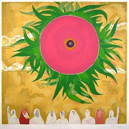 Is Ghat Antar, print by Haku Shah