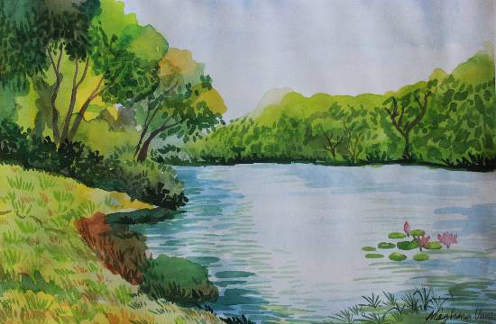 Painting  by Meghna Unnikrishnan - Nature