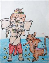 Painting  by Aaradhya Lakhan - Ganesha