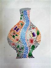 Painting  by Achira Shah - Flower pot