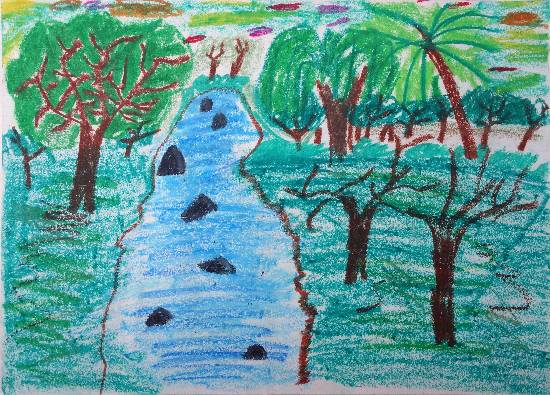 painting by Atharva Atish Jadhav - Forest
