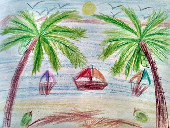 Painting  by Atharva Atish Jadhav - Beach
