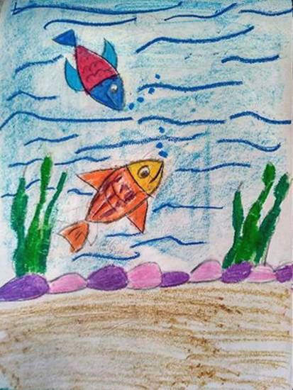 Aquarium, painting by Atharva Atish Jadhav